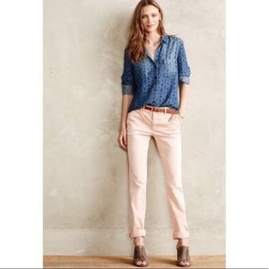 Pilcro Anthropologie Pink Hyphen Chino Pants